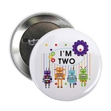 """Robot 2nd Birthday 2.25"""" Button"""