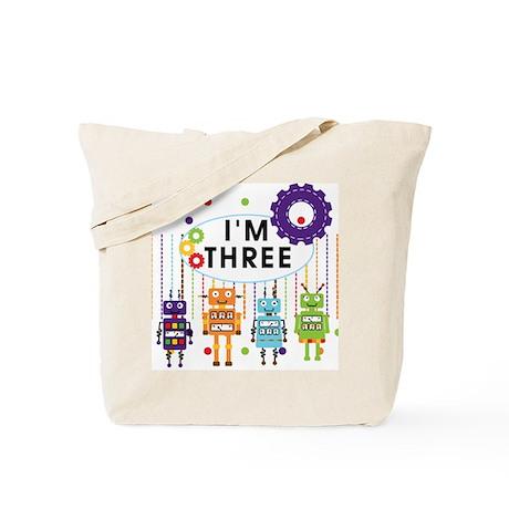 Robot 3rd Birthday Tote Bag