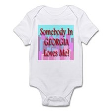 Somebody In Georgia Loves Me! Infant Creeper