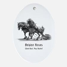 Belgian Horse Ornament (Oval)