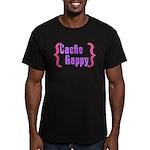 Cache Happy Men's Fitted T-Shirt (dark)