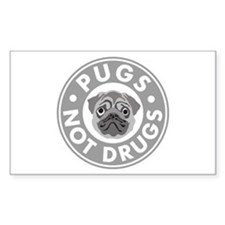 Pugs Not Drugs Decal
