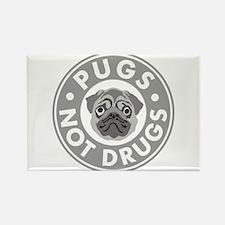 Pugs Not Drugs Rectangle Magnet