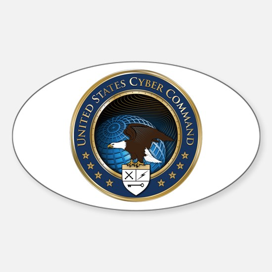 United States Cyber Command Sticker (Oval)