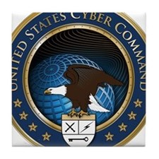 United States Cyber Command Tile Coaster