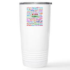 Tennis Terms Travel Coffee Mug