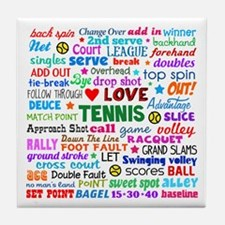 Tennis Terms Tile Coaster