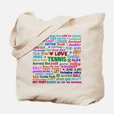 Tennis Terms Tote Bag