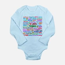 Tennis Terms Long Sleeve Infant Bodysuit