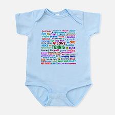 Tennis Terms Infant Bodysuit