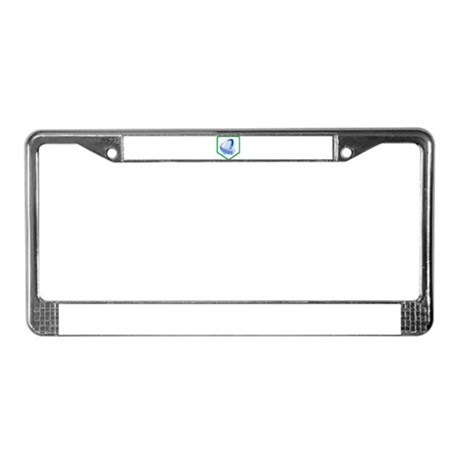 rugby ball shield License Plate Frame