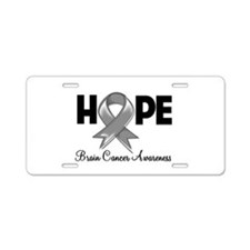 Hope Brain Cancer Aluminum License Plate