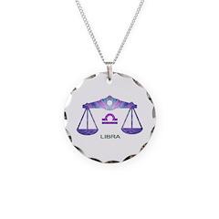 LIBRA Necklace Circle Charm