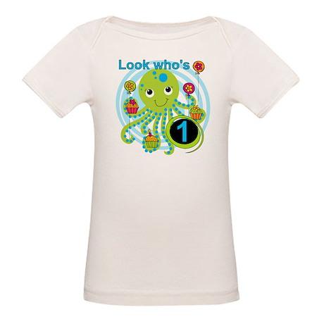 Octopus 1st Birthday Organic Baby T-Shirt