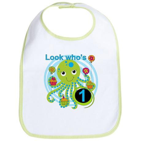 Octopus 1st Birthday Bib
