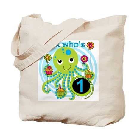 Octopus 1st Birthday Tote Bag