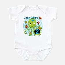 Octopus 2nd Birthday Infant Bodysuit