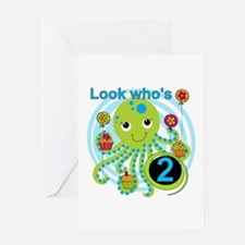 Octopus 2nd Birthday Greeting Card