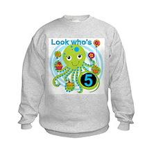 Octopus 5th Birthday Sweatshirt