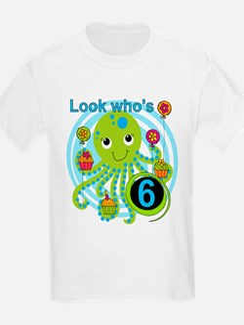 Octopus 6th Birthday T-Shirt
