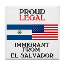 El Salvador Immigrant Tile Coaster