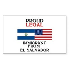 El Salvador Immigrant Rectangle Decal