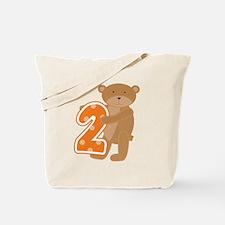 Bear 2nd Birthday Tote Bag