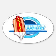 Weiner Underwear - Tighty Whiteys Sticker (Oval)