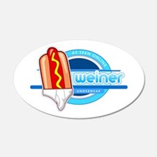 Weiner Underwear - Tighty Whiteys 22x14 Oval Wall