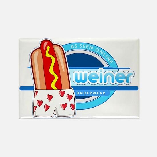 Weiner Underwear - Heart Boxers Rectangle Magnet