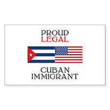 Cuban Immigrant Rectangle Decal