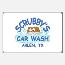 Scrubbys Car Wash Banner