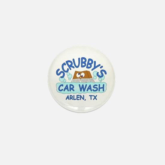 Scrubbys Car Wash Mini Button