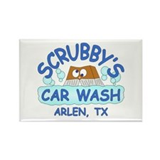 Scrubbys Car Wash Rectangle Magnet