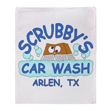 Scrubbys Car Wash Throw Blanket