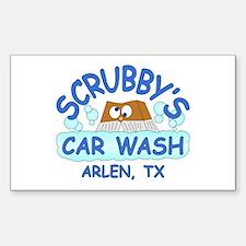 Scrubbys Car Wash Decal