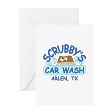 Scrubbys Car Wash Greeting Card