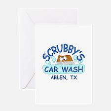 Scrubbys Car Wash Greeting Card