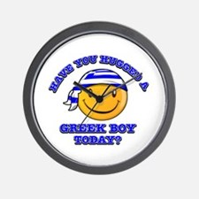 Have you hugged a Greek today? Wall Clock