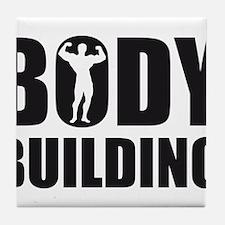 Cute Bodybuilding Tile Coaster