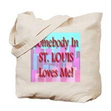 Somebody In St. Louis Loves M Tote Bag