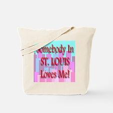 Somebody In St. Louis Loves M Tote Bag