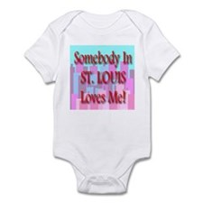 Somebody In St. Louis Loves M Infant Creeper
