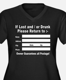 If Lost and / or Drunk Women's Plus Size V-Neck Da