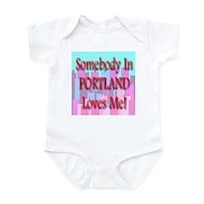 Somebody In Portland Loves Me Infant Creeper