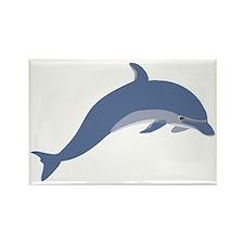 Bottlenose Dolphin Symbol Rectangle Magnet (100 pa