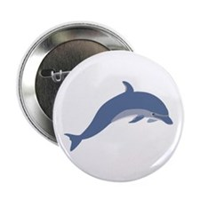 "Bottlenose Dolphin Symbol 2.25"" Button"