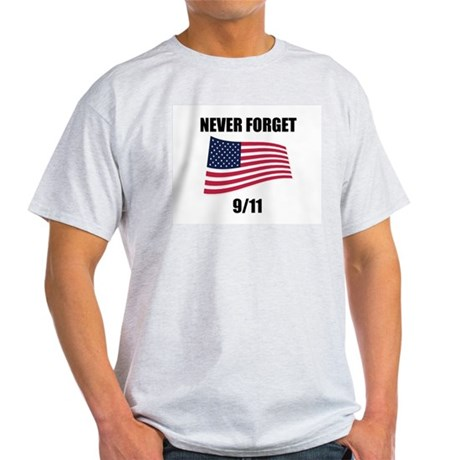 Never Forget 9/11 Ash Grey T-Shirt