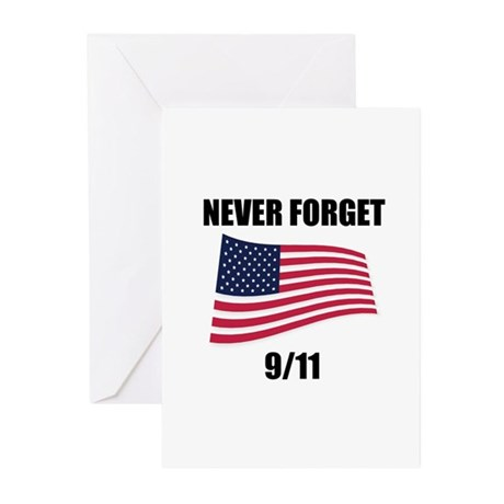 Never Forget 9/11 Greeting Cards (Pk of 10)