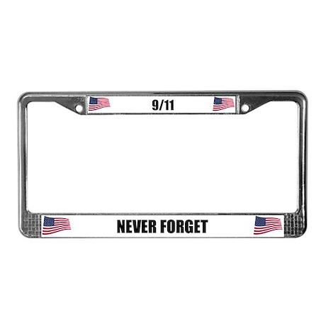 Never Forget 9/11 License Plate Frame